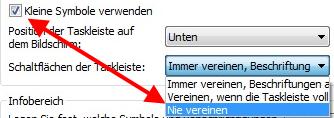 taskleiste superbar - Klassisches Startmenü einrichten unter Windows 7