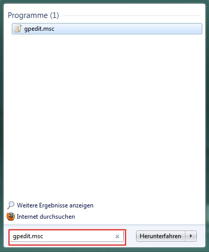 toolbar1 - Menüeintrag Ausführen unter Windows 7 Aktivieren