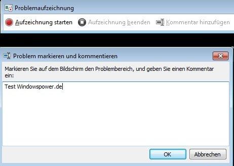 aufzeichnung4 - Windows 7 Aufzeichnungsassistent aktivieren