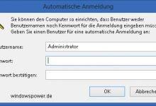 automatische anmeldung 220x150 - Ohne Passworteingabe anmelden unter Windows 8