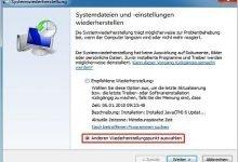wiederherstellung1 220x150 - Windows 8 Wiederherstellungspunkt manuell erstellen