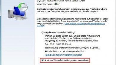 Bild von Windows 8 Wiederherstellungspunkt manuell erstellen