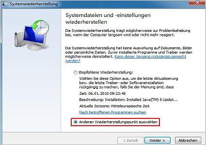 wiederherstellung1 - Windows 8 Wiederherstellungspunkt manuell erstellen