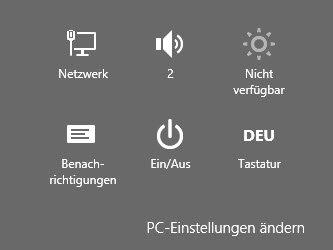 Kurztipp: Windows 8 Charms-Liste anzeigen