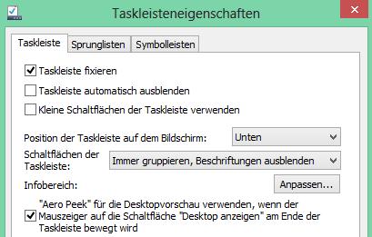 unbenannt - Windows 8 Infobereich anpassen, und Taskleistenposition ändern