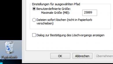 papier 390x220 - Windows 8 Datei löschen Abfrage widerherstellen