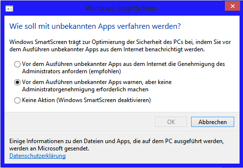 smart - Windows 8 Smart Screen Einstellungen