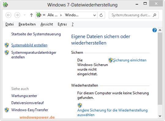 systemimage erstellen - Windows 8: Ein Systemimage erstellen