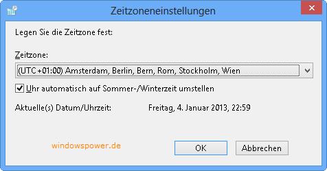 zeitzone - Windows 8 Zeitzone - Uhrzeit und Datum ändern