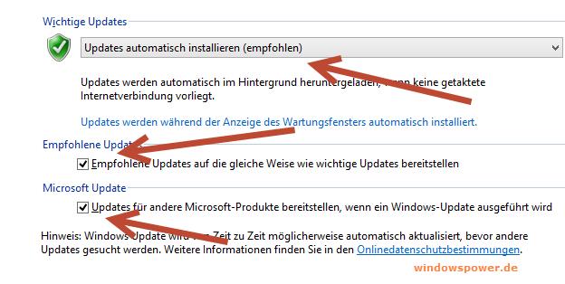 updates automatisch installieren - Windows 8 automatische Updates aktivieren