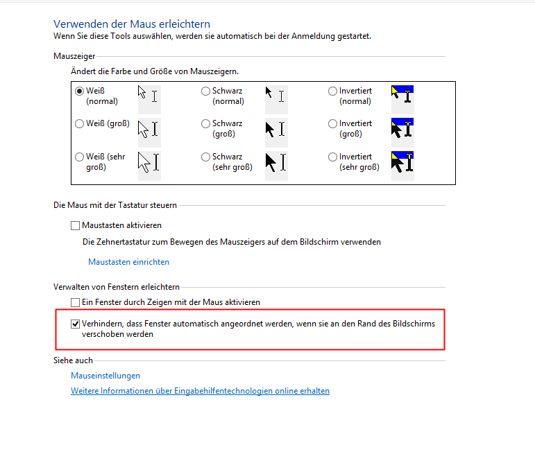 Windows 8: Automatisches Maximieren deaktivieren