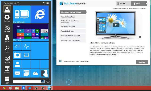 11 - Windows 8 Startmenü gestalten
