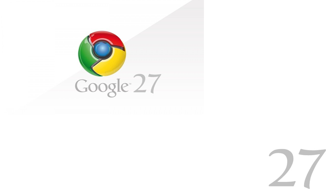 google chrome logo white 900x1600 - Google Chrome 27