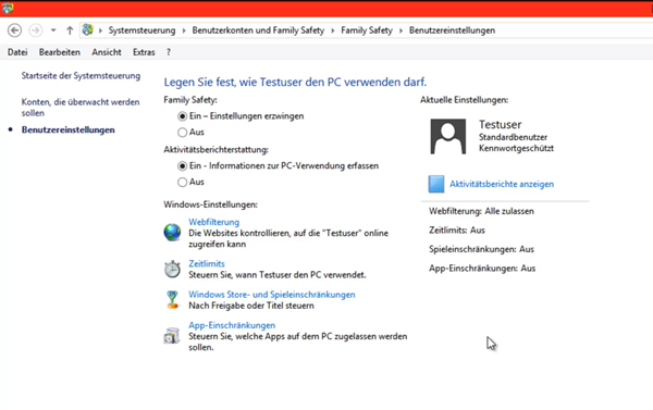 unbenannt - Windows 8 Family Safety einrichten