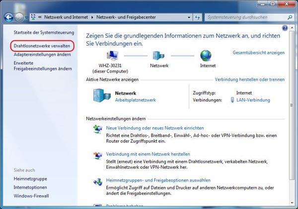 Windows 7/8 Drahtlos Netzwerk Passwort auslesen