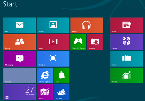 win8 start screen 610x426 - Windows 8 Start Menü mit Start X personalisieren