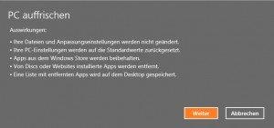 pc-auffrischen-weiter Windows 8 auffrischen
