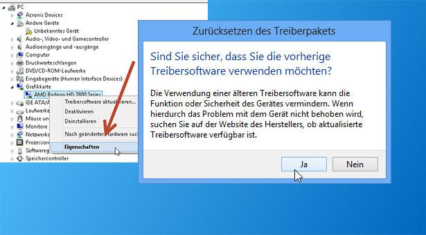 windows 8 alte treiber - Windows 8 - einen älteren Treiber wiederverwenden