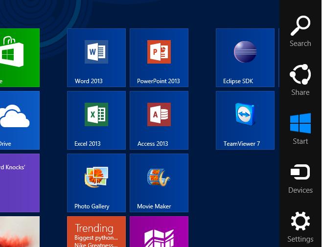 Bild von Charms Leiste unter Windows 8.1 deaktivieren