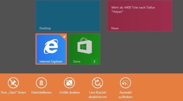 apps deaktivieren - Windows 8/8.1 Deinstallieren von Apps deaktivieren