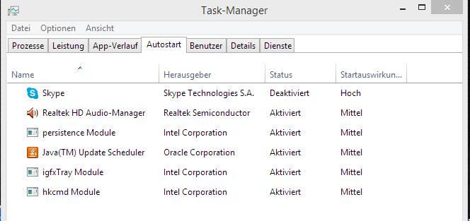 unbenannt2 - Windows 8.1 Autostart Programme deaktivieren
