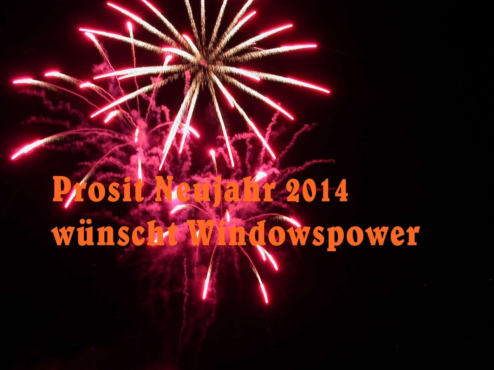 feuerwerk 1 - Prosit Neujahr 2014 wünscht windowspower.de