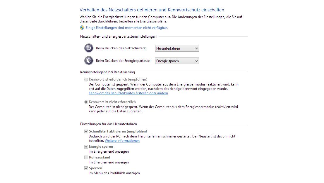 Bild von Windows 8.1 Schnellstart aktivieren