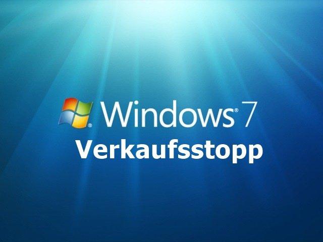 verkaufsstop - Verkaufsstopp der Retail-Version von Windows 7