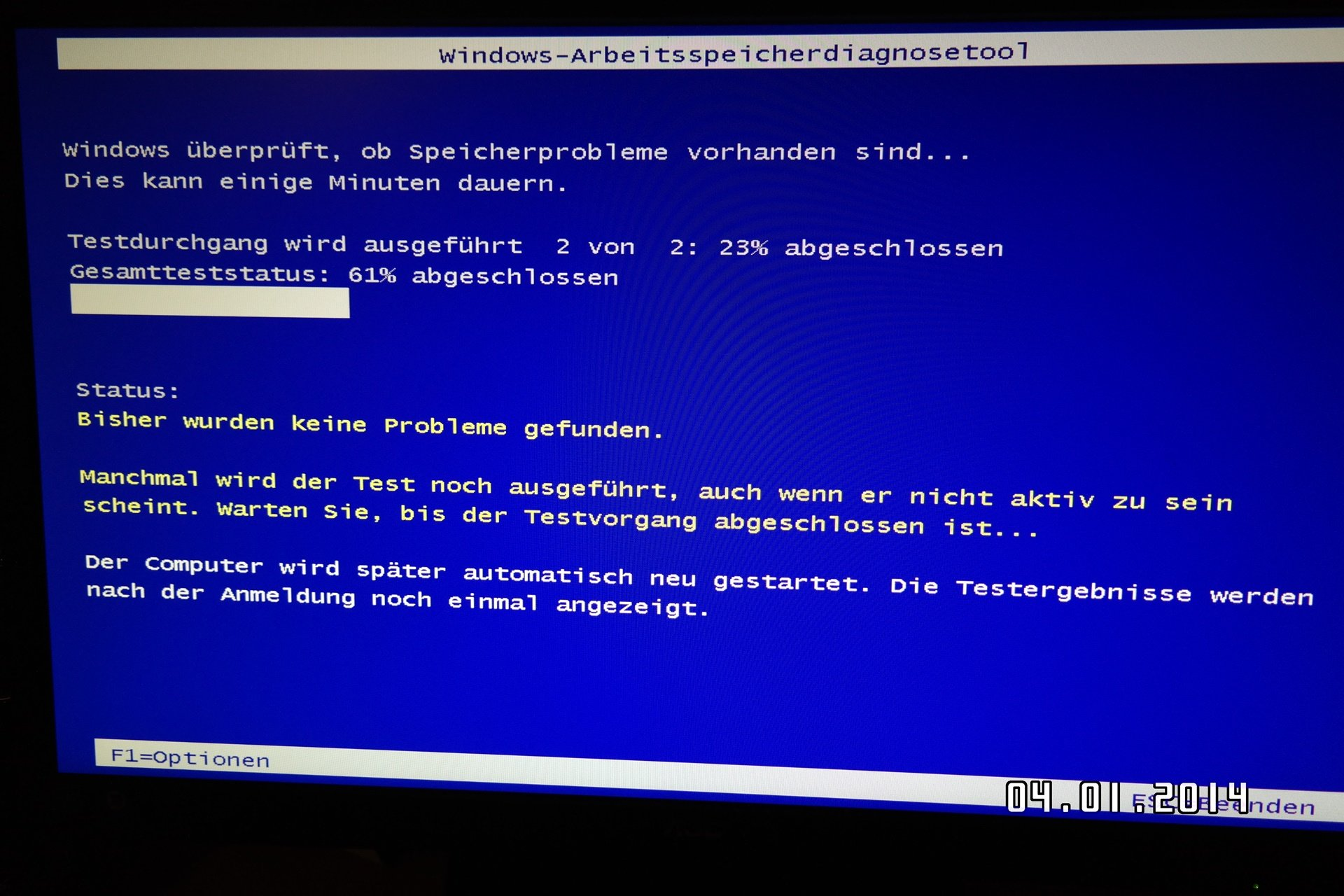 sam 0770 - Windows 8/8.1 Arbeitsspeicher auf Fehler prüfen