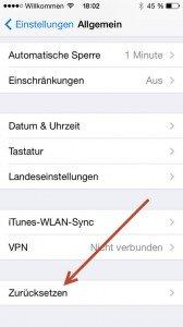iphone-zuruecksetzen iPhone zurücksetzen – Wiederherstellung der Werkseinstellung
