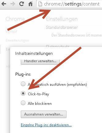 Chrome Automatisches abspielen von Videos deaktivieren