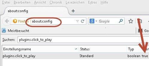 Firefox Automatisches abspielen von Videos deaktivieren