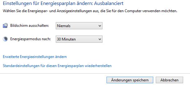 automatische abschaltung des monitors verhindern bei windows 8.1 - Automatische Abschaltung des Monitors verhindern bei Windows 8.1
