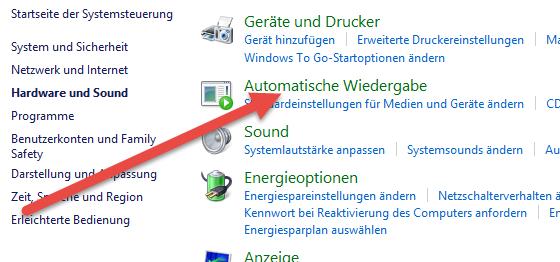 automatische wiedergabe Automatische Wiedergabe deaktivieren unter Windows 8.1