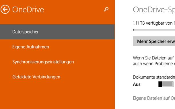 automatisches speichern auf onedrive deaktivieren bei windows 8 - Automatisches Speichern auf OneDrive deaktivieren bei Windows 8.1