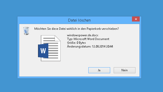 bestaetigen von loeschen wieder aktivieren bei windows 8.1 - Bestätigen von Löschen wieder aktivieren bei Windows 8.1