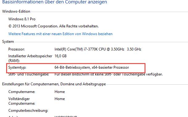 systemtyp 32bit 64bit1 - 32 Bit oder 64 Bit - Welche Windows Version ist installiert?