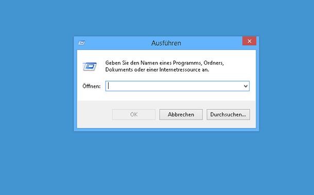 Ausführen an die Taskleiste anheften bei Windows 8.1