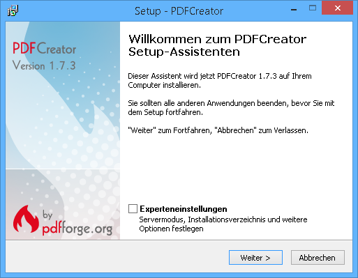 pdf creator install