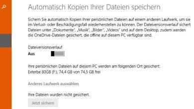 windows backup sicherung auf externe festplatte erstellen 390x220 - Windows-Backup Sicherung auf externe Festplatte erstellen