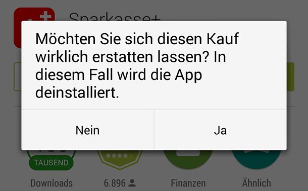 android app kaeufe stornieren - Android – App-Käufe stornieren
