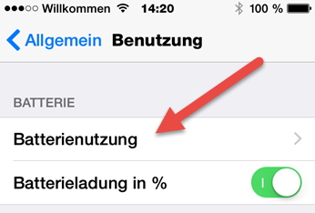 iphone batterienutzung