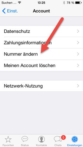 iphone-whatsapp-einstellungen-account-nummer-aendern
