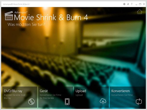 Ashampoo Movie Shrink & Burn 4 – Videos umwandeln und verkleinern + Gewinnspiel 5 Vollversionen