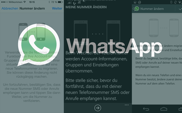 telefonnummer aendern whatsapp iphone android1 - Telefonnummer ändern in WhatsApp‏ - Iphone - Android - Windows Phone