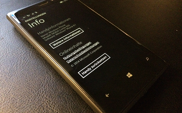 windows phone 81 handys zuuecksetzen - Windows Phone 8.1 - Handy Zurücksetzen