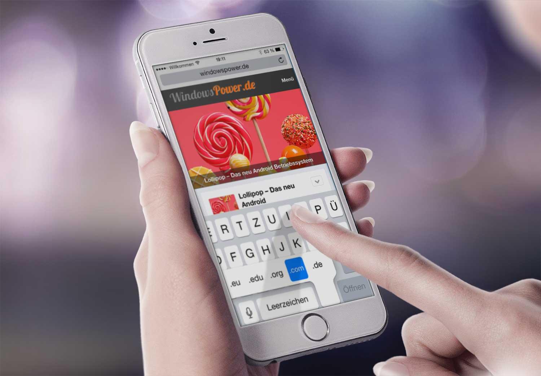 iphone schneller eingeben von internetadressen - iPhone - Schneller eingeben von Internetadressen .de .com .net .eu