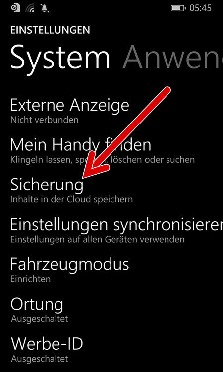 windows-phone-einstellungen