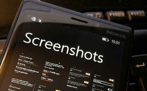 windows phone screenshots erstellen - Windows Phone 8.1 Screenshots erstellen