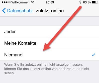 Whatsapp Online Status Android Iphone Verbergen Nicht Anzeigen